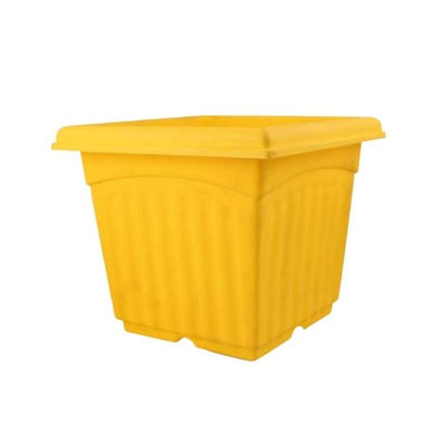 Super (10 Inches, Yellow) Flower Pot (18 Pieces)