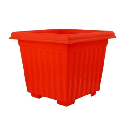 Super (12 Inches, Orange) Flower Pot (12 Pieces)