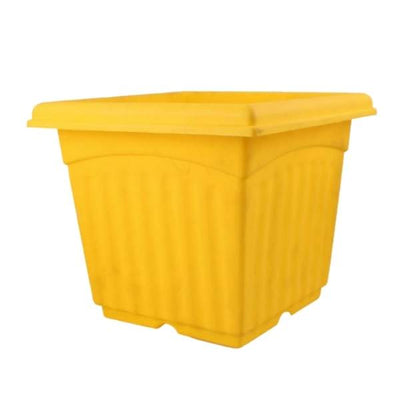 Super (12 Inches, Yellow) Flower Pot (12 Pieces)
