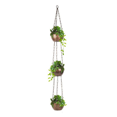 iron apple hanging planter pots