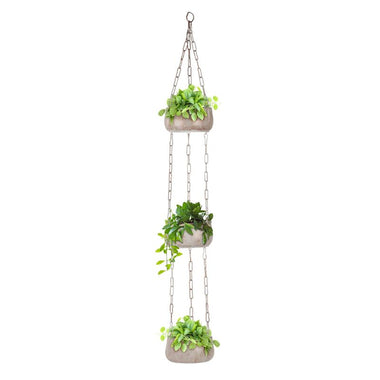 iron matki hanging planter pots