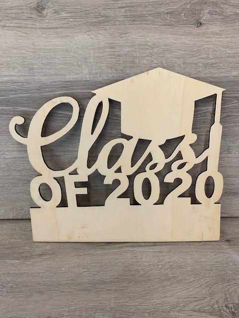 In Studio-Class of 2020 Wood Sign