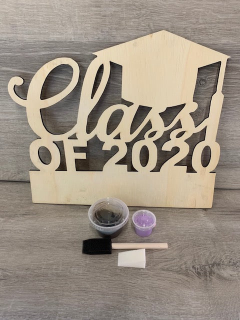 Class of 2020 Wood Graduation Sign Kit