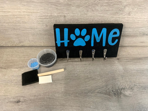 Pet Wood Sign Leash Holder Kit