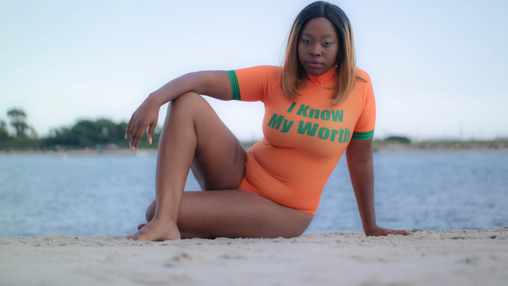 I Know My Worth Swimsuit (Preorder)