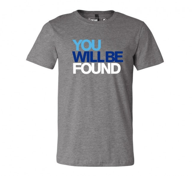 DEAR EVAN HANSEN You Will be Found Grey Tee