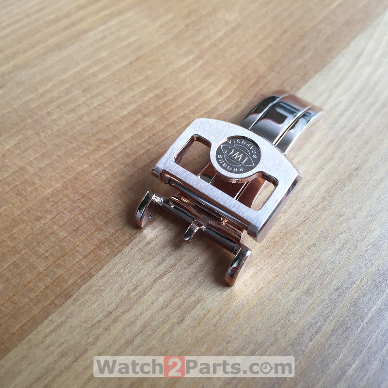 18mm IWC schaffhausen leather watch band buckle/clasp for Pilot'S Portugieser automatic watch - watch2parts