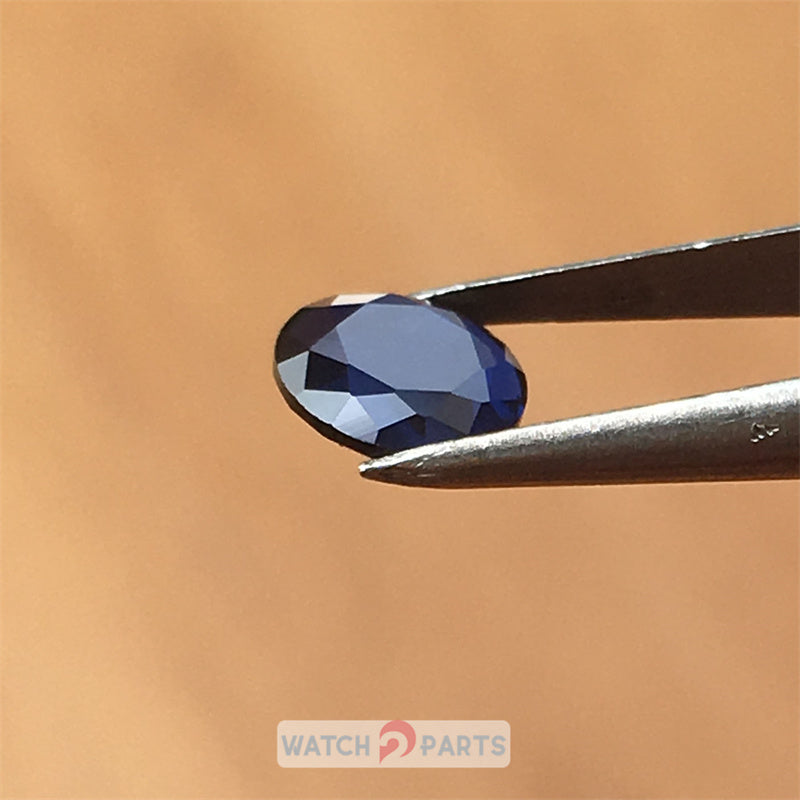blue sapphire crystal for Cartier Calibre 42mm automatic watch crown parts - watch2parts