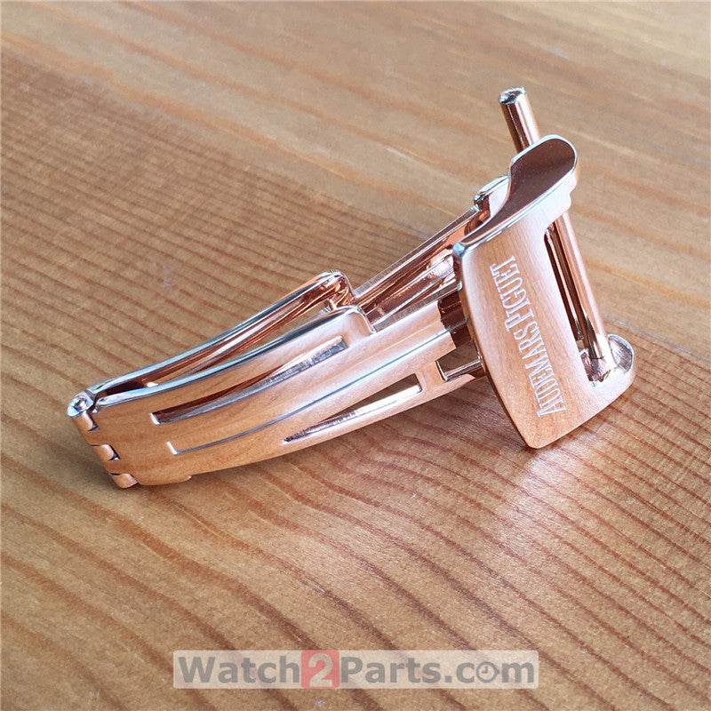 18mm leather band deployment watch buckle clasp for Audemars Piguet Royal Oak Roo 15400 automatic watch - watch2parts