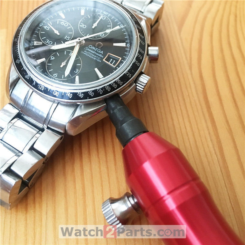 steel screwdriver for Omega Speedmaster Chronograph watch button pusher tube