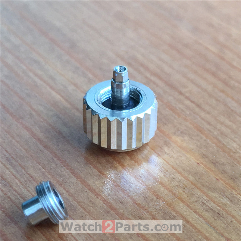 7.9mm steel watch screw crown for Chopard Classic Racing Mille Miglia watch - watch2parts