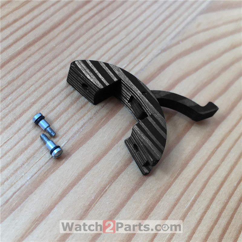carbon fiber watch crown protect guard parts for Panerai Submersible 47mm automatic watch - watch2parts