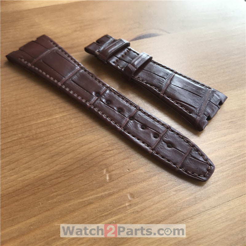 Crocodile skin watch band for AP Audemars Piguet Royal Oak 41mm automatic watch
