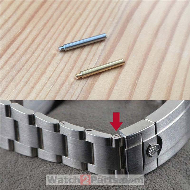 watch screw tube for Rolex Submariner automatic watch band connect buckle screw rod
