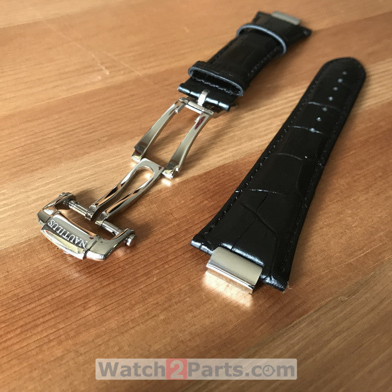 26mm crocodile skin watch leather watchband/strap for Patek Philippe PP Nautilus watch(with conversion link kit+buckle )