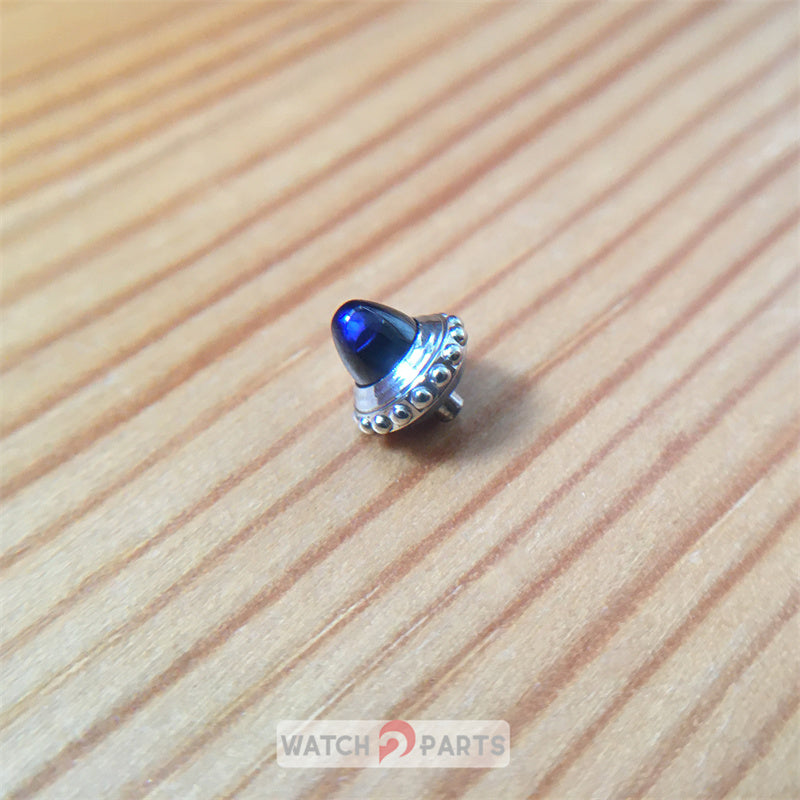 sapphire crown for Cartier Santos Dumont 46.6X33.9mm manual watch