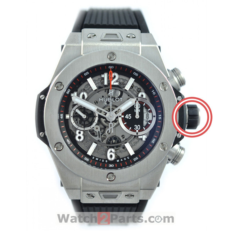 steel waterproof crown for Hublot Big Bang 411 automatic watch - watch2parts