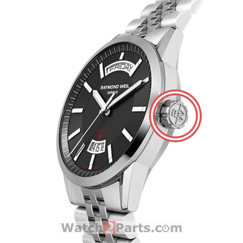 waterproof watch crown for Raymond Weil Freelancer 42mm men's automatic watch - watch2parts