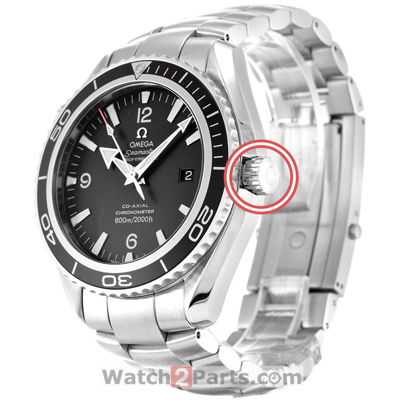 watch crown for Omega big Seamaster Planet Ocean 45mm watch - watch2parts