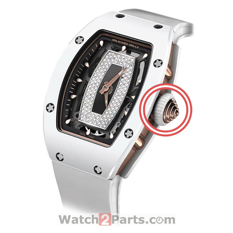 watch crown rubber ring for Richard Mille RM07 ladys' watch crown parts