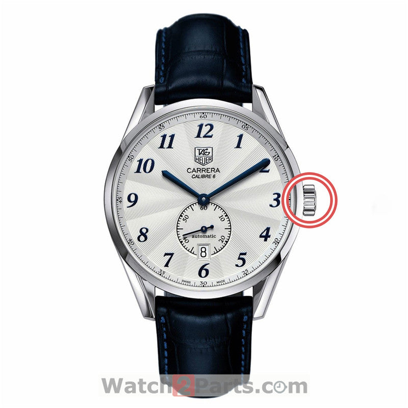 waterproof watch crown for TAG HEUER Carrera Heritage 39mm WAS211 automatic watch - watch2parts