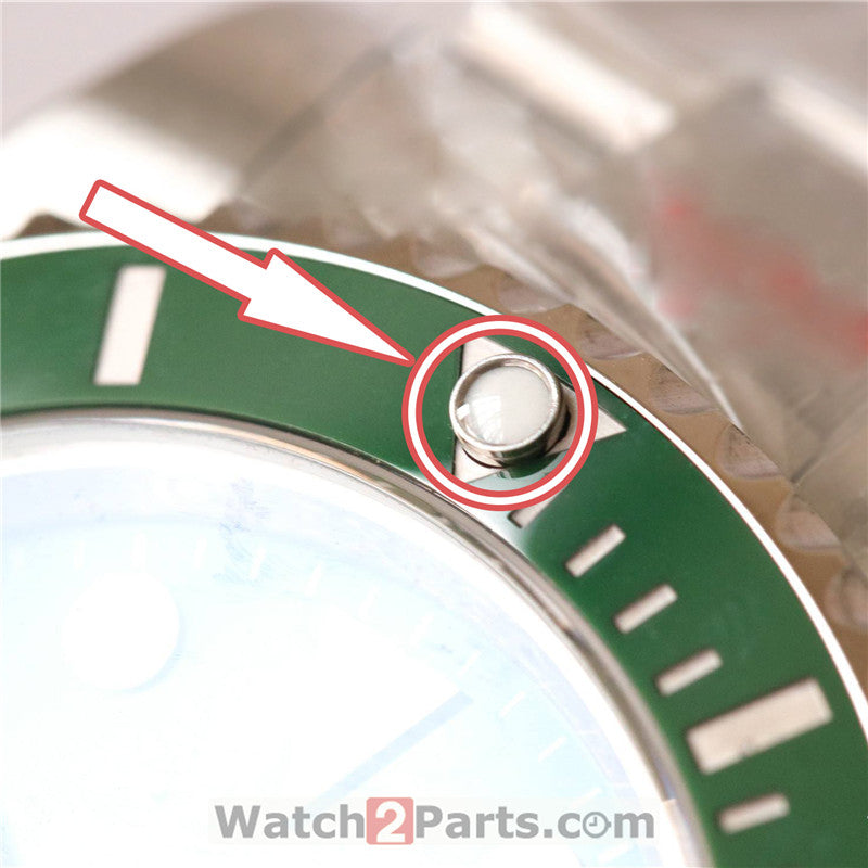sapphire crystal glass cover for Rolex Submariner 116610 watch ceramic bezel luminous dot - watch2parts