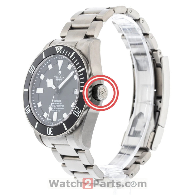 steel waterproof crown for Tudor Pelagos 25600 titanium automatic watch