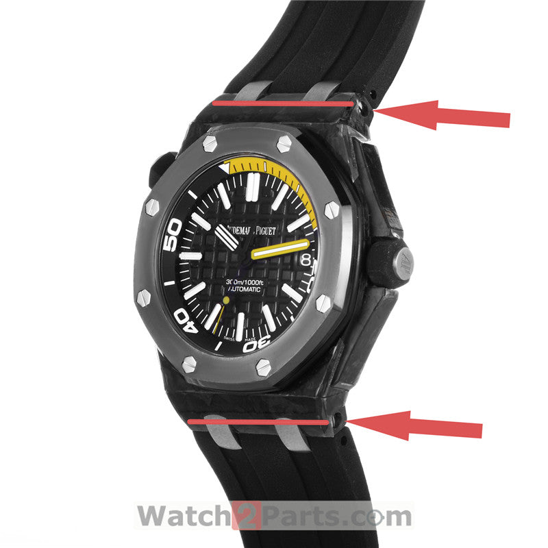 connect watch strap bracelet strap conversion link kit for Audemars Piguet AP Roo Diver carbon/ceramic watch case link kit 15706 - watch2parts