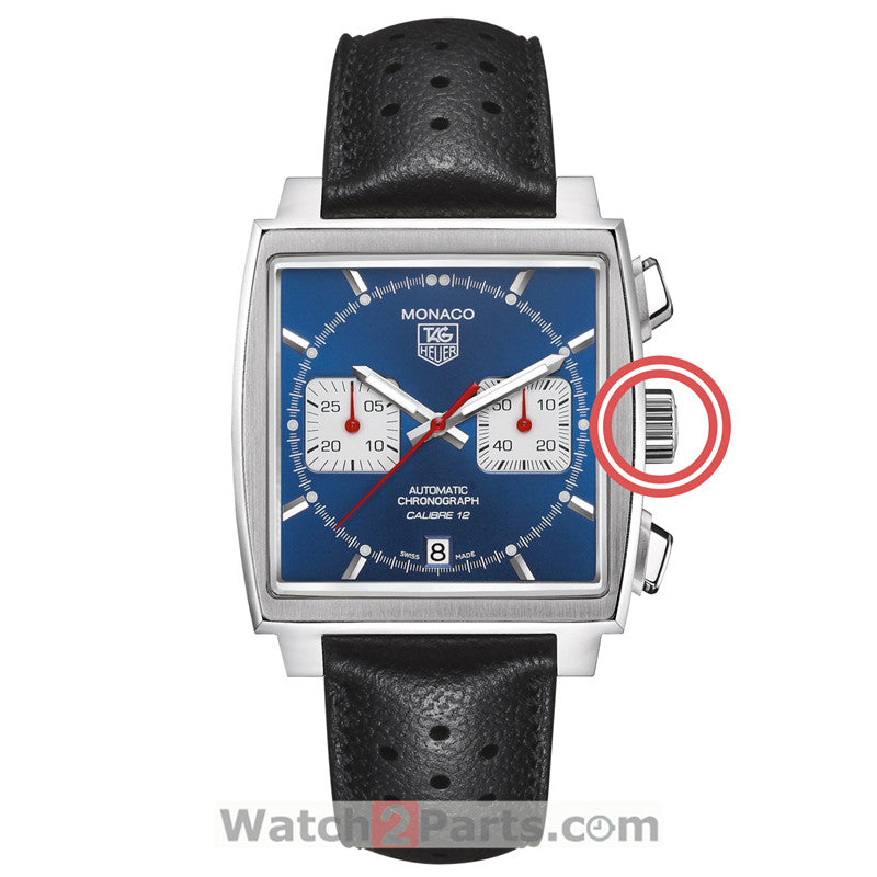 steel waterproof crown for Tag Heuer Monaco CAW211 automatic watch