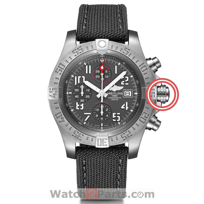 steel waterproof crown for Breitling Avenger original automatic watch E1338310