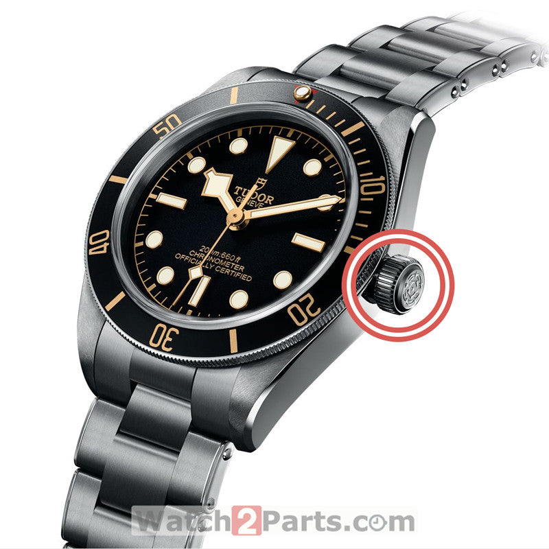 steel waterproof crown for Tudor Black Bay 39mm automatic watch M79030