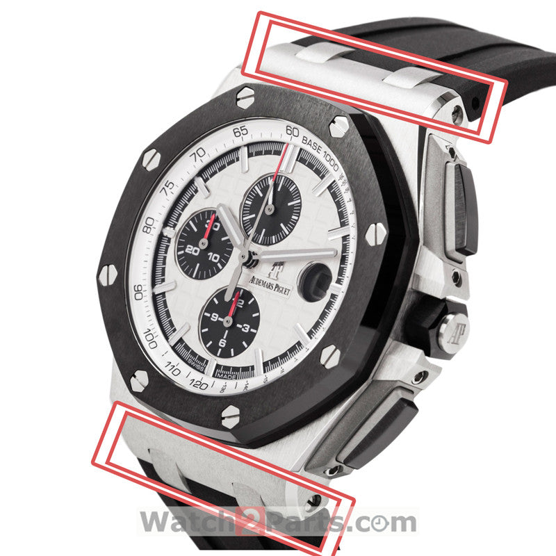 Conversion link kit for Audemars Piguet ROYAL OAK OFFSHORE 44mm Schumacher carbon watch case connect watch band - watch2parts