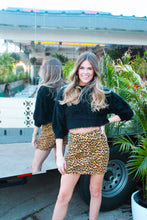 Load image into Gallery viewer, LEOPARD CORDUROY SKIRT