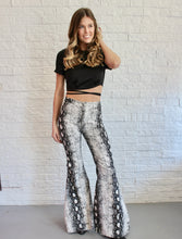 Load image into Gallery viewer, SNAKE PRINT FLARE PANTS