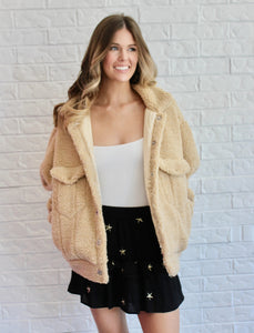 TAUPE WOOLY JACKET