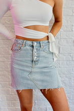 Load image into Gallery viewer, BUTTON FRONT DENIM SKIRT