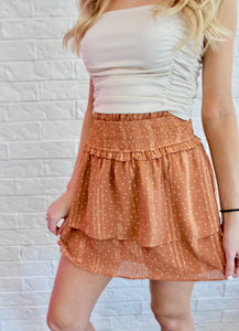 POLKA DOT DETAIL SKIRT