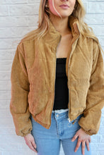 Load image into Gallery viewer, CORDUROY PUFFER JACKET