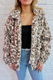IVORY/BROWN FUZZY JACKET