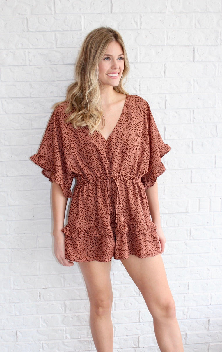 INTO THE SAHARA ROMPER