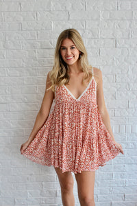 PINK/ORANGE DIAMOND DRESS