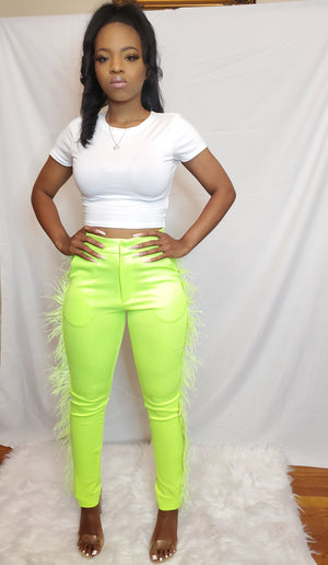 Feather Trim Pant