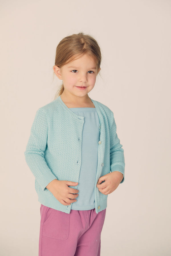 Buttoned Cardigan  - Pale Mint