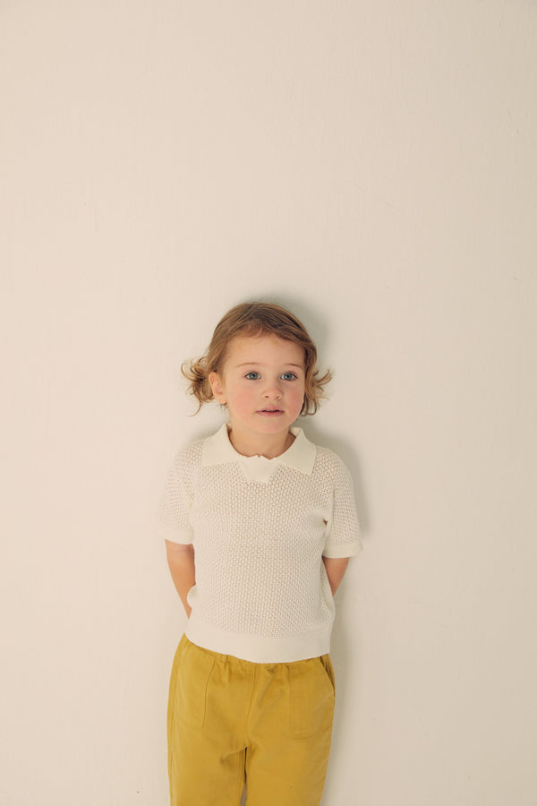 Knitted Polo Shirts - White