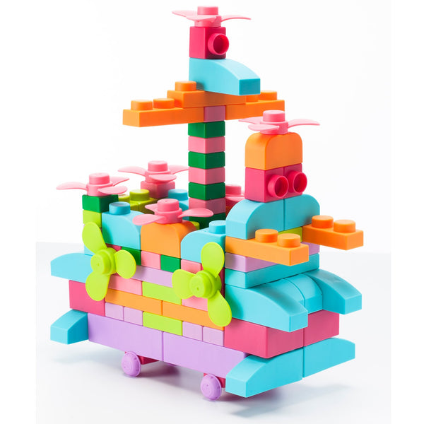 Soft Building Blocks 80 Piece Plus Series - Pastel Color