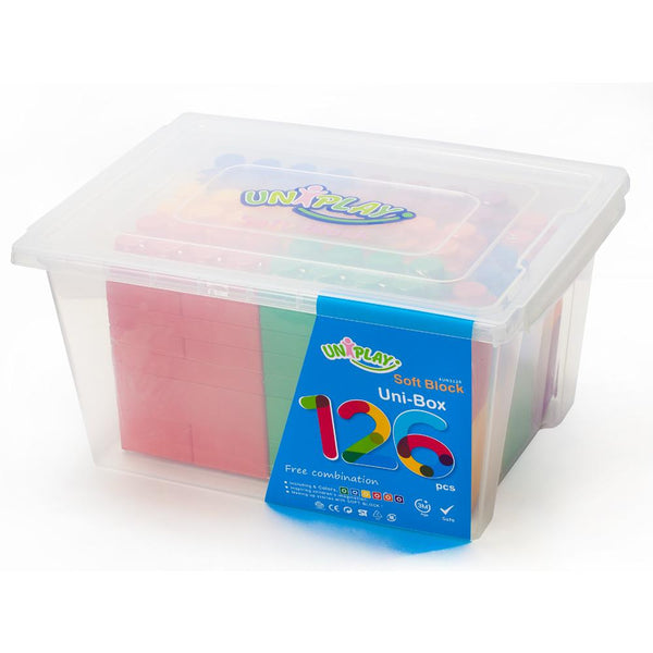 Soft Building Blocks 84 or 126 Piece Sets - UNiBOX