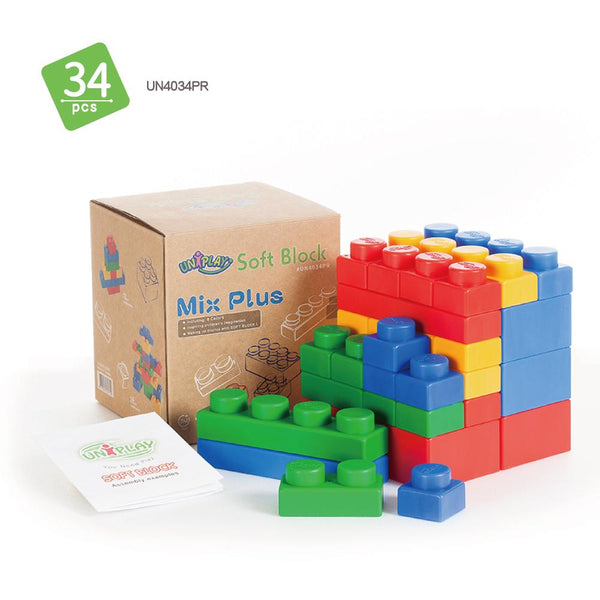 Soft Building Blocks 34 Piece Mix Series