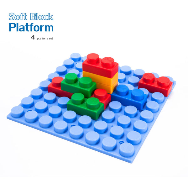 Soft Building Blocks Platform - 4 Pieces