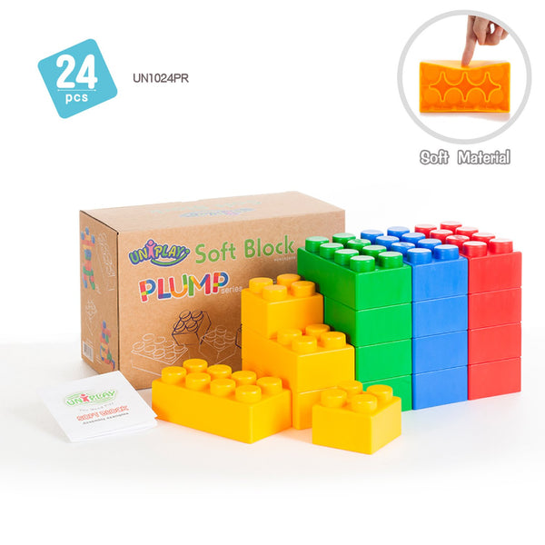 Soft Building Blocks 24 Piece Plump Series