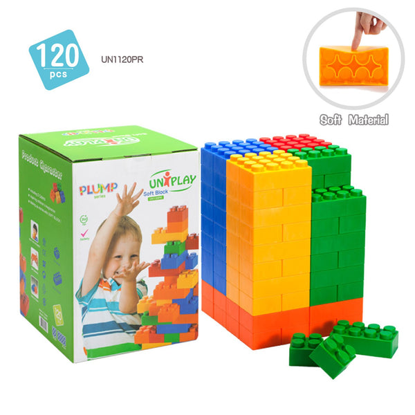 Soft Building Blocks 120 Piece Plump Series